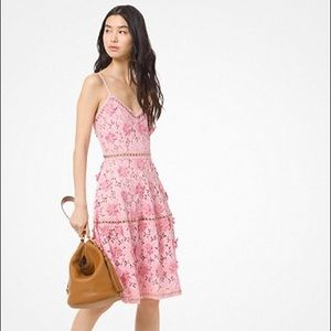 Michael Kors floral appliqué lace dress sz 00